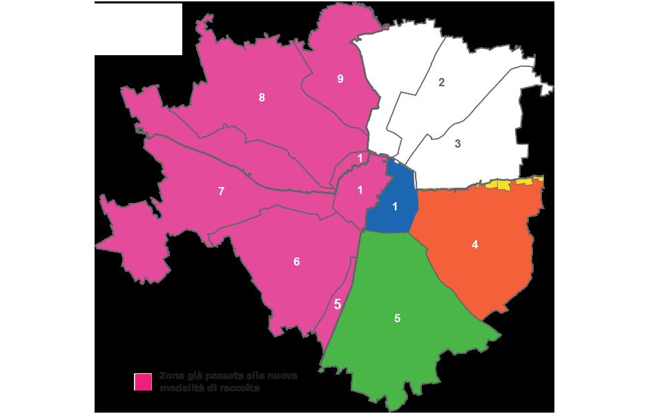 Differenziata al top - mappa