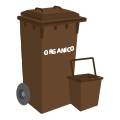Brown container: Food and organic waste