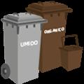 Cassonetto grigio-marrone: rifiuti organici/umido domestico