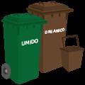 Cassonetto verde o marrone: rifiuti organici/umido domestico