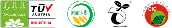 Marchi certificati per i sacchetti compostabili